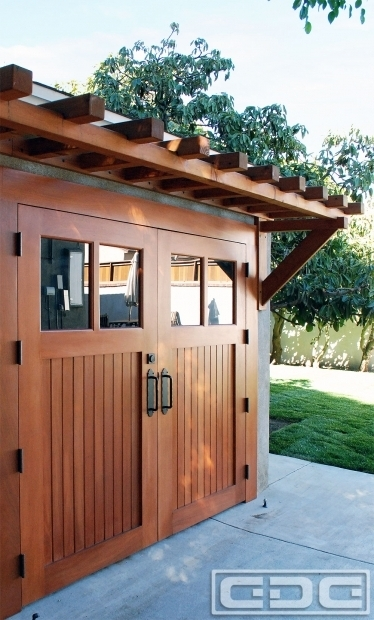Amazing Over The Garage Pergola Real Wood Carriage Garage Door Ideas With Matching Overhead