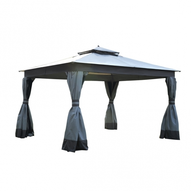 Awesome Allen And Roth Gazebo Shop Allen Roth Caster Gray Replacement Canopy Top At Lowes