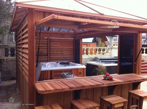 Awesome Wooden Gazebo For Hot Tub Cedarwood Gazebos Summit Leisure Hot Tub Enclosures Backyard