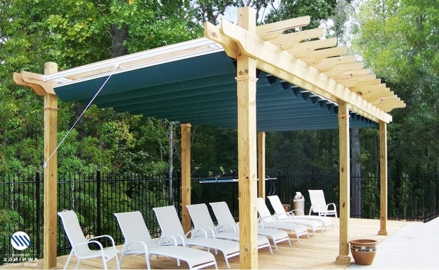 Awesome Wooden Pergola With Retractable Canopy Canopy Idea Guide Awnings Sunrooms Installation Service