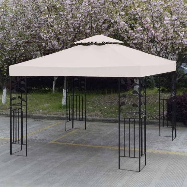 Beautiful 10x10 Gazebo Frame Convenience Boutiqueoutdoor 10 X 10 Patio Canopy Gazebo Top