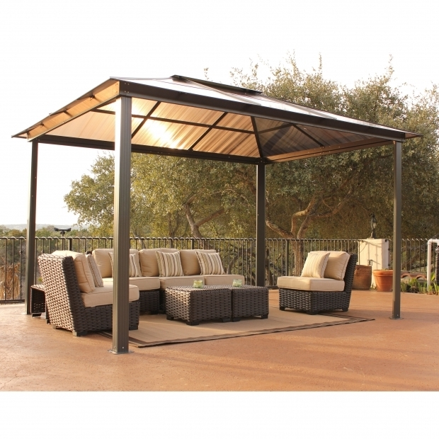 Beautiful Aluminum Pergola Kits Lowes Garden Outdoor Fancy Hardtop Gazebo For Your Outdoor And Garden