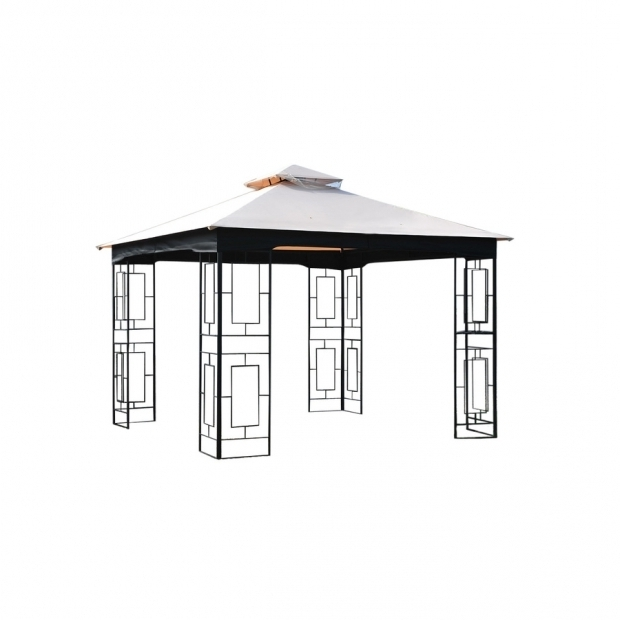 Garden Treasures Black Steel Gazebo
