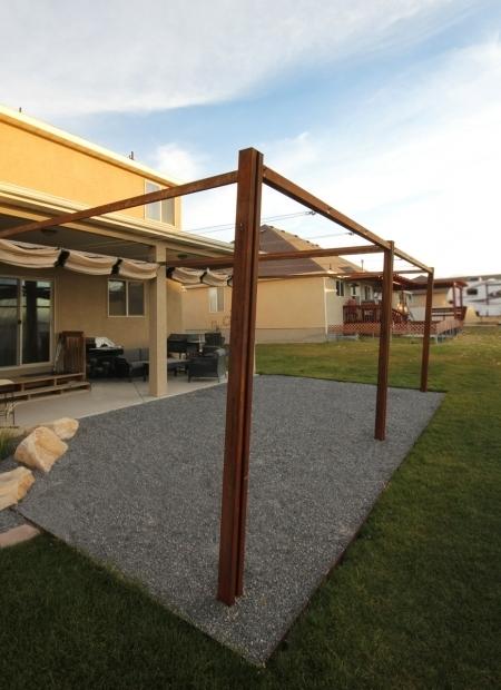 Fantastic Metal Pergola With Retractable Canopy Kingbird Design Llc Pergola With Retractable Shades