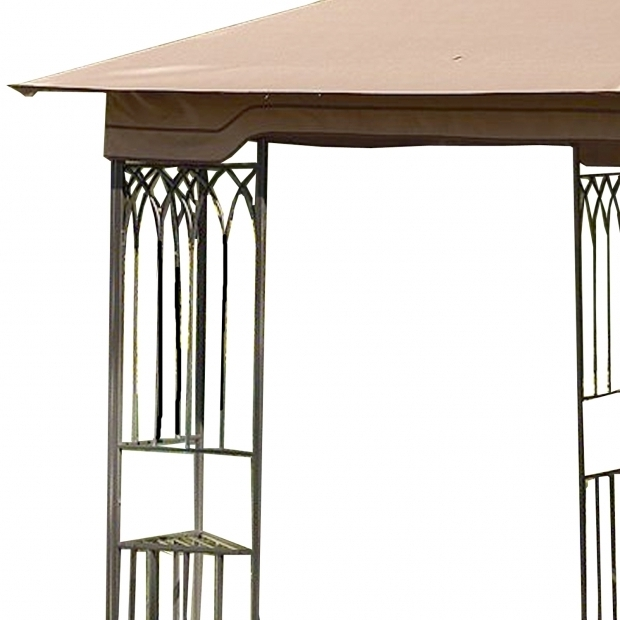 Fascinating 10x10 Gazebo Frame Replacement Canopy For Steel Frame 10x10 Riplock 350 Garden Winds