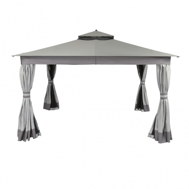 Fascinating Allen Roth 10 X 12 Gazebo Shop Allen Roth 10 Ft X 12 Ft X 951 Ft Polyester Roof Black