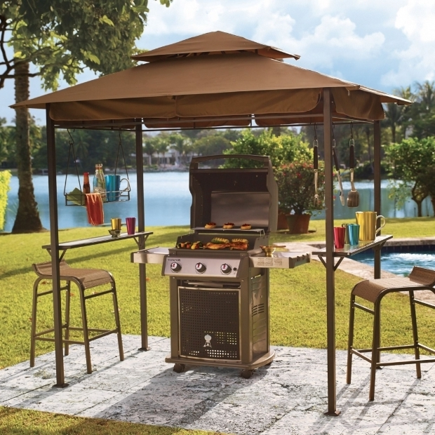 Gorgeous Grill Gazebo With Lights Gazebo Ideas Mainstays Grill Gazebo With Adjustable Awning With