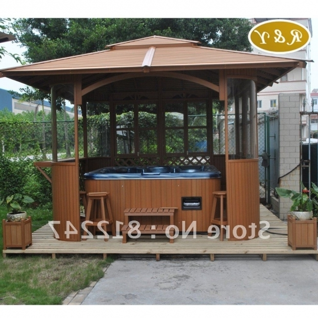 Gorgeous Wooden Gazebo For Hot Tub Wooden Gazebos For Hot Tubs Image Pixelmari