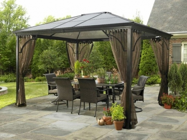 Image of Grand Resort Hardtop Gazebo Gazebo Ideas Hardtop Gazebo Replacement Panels Lace Panels With