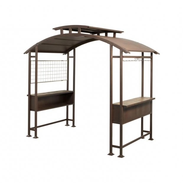 Image of Home Depot Grill Gazebo Hampton Bay 8 Ft X 5 Ft Walker Grill Gazebo L Gz411pst The