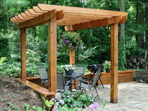 Image of How To Build A Wooden Pergola How To Build A Pergola How Tos Diy