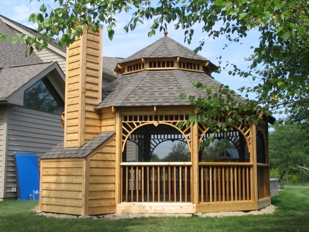 Image of Screened In Gazebo With Fire Pit Impressive Screened Gazebo Kits Wood Kits Outdoor Navpa2016