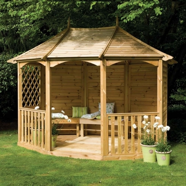 Image of Wooden Gazebo Kits Sale Gazebos With Seating 119 X 93 Ft 36 X 28m Wooden Gazebo