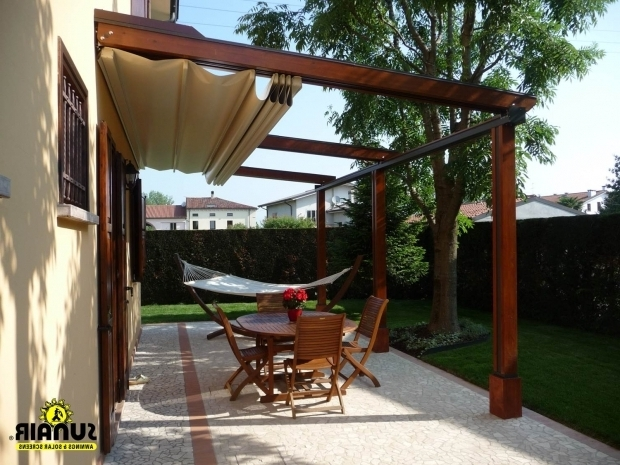 Wooden Pergola With Retractable Canopy