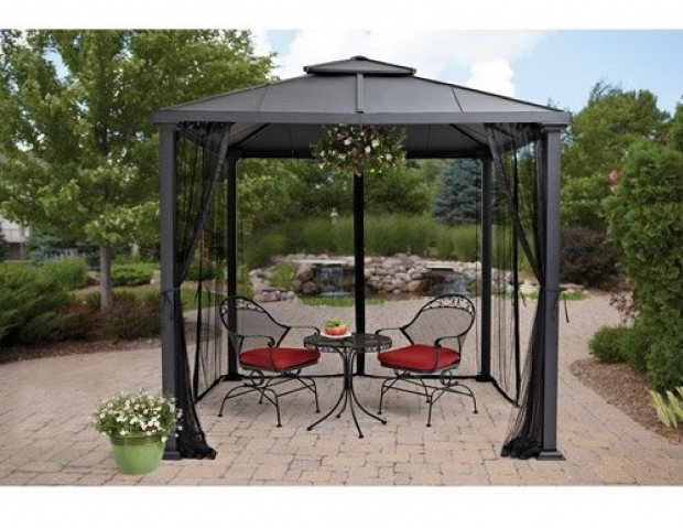 Inspiring 8x8 Gazebo With Netting Hard Top Gazebo Metal Frame Canopy Mosquito Netting 8 X 8 Outdoor
