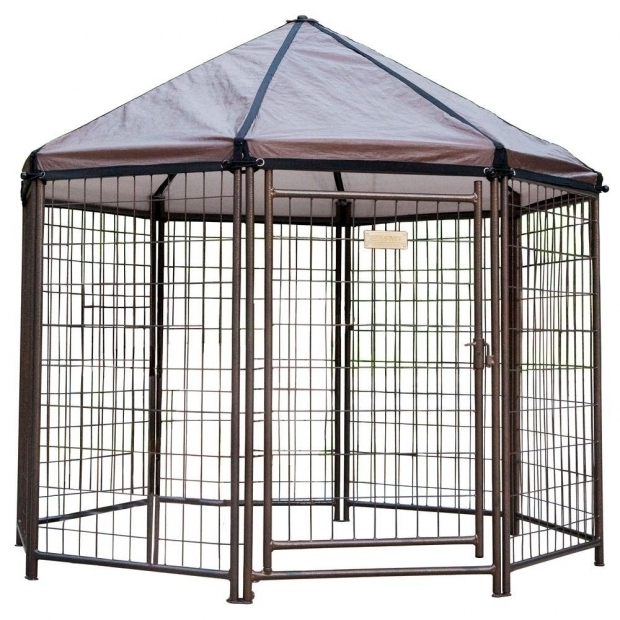 Inspiring Advantek Pet Gazebo Outdoor Kennel Low Profile 5 Ft Outdoor Pet Gazebo Dog Kennel 23200 The Home Depot