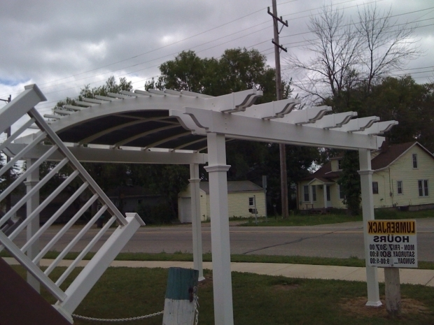 Inspiring Attached Vinyl Pergola Kits What We Did Today Vinyl Pergola Autumnwoodconstructions Blog