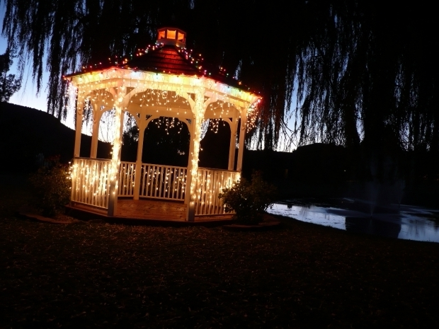 Inspiring Gazebo With Lights Gazebos With Lights Minimalist Pixelmari