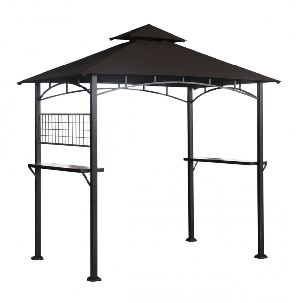 Inspiring Grill Gazebo Lowes Shop Sunjoy Capri Black Steel Rectangle Grill Gazebo Exterior