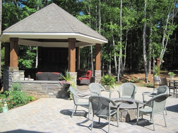 Inspiring Screened In Gazebo With Fire Pit Gazebos With Fire Pits Pictures Pixelmari