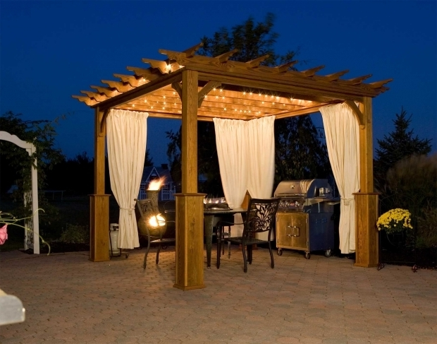 Marvelous Gazebo Lights Solar Gazebo Ideas Modern Grill Gazebo With Lights With Outdoor Led Tape