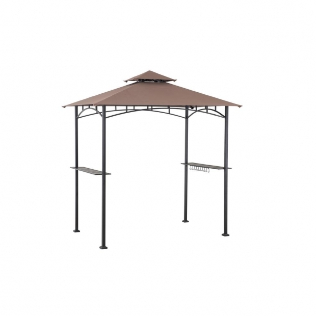 Marvelous Grill Gazebos Home Depot Sunjoy 5 Ft X 8 Ft Soft Top Grill Gazebo 110103014 The Home Depot