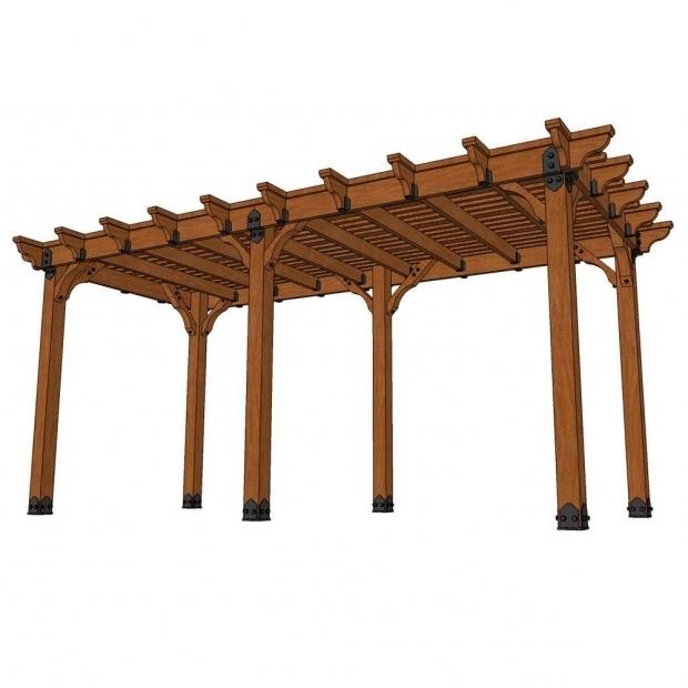 Marvelous Pergola Kits Home Depot Design Craft Millworks 10 Ft X 20 Ft Diy Western Red Cedar