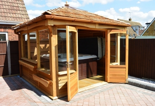 Marvelous Wooden Gazebo For Hot Tub Gazebo For Hot Tub Design Home Design And Decor