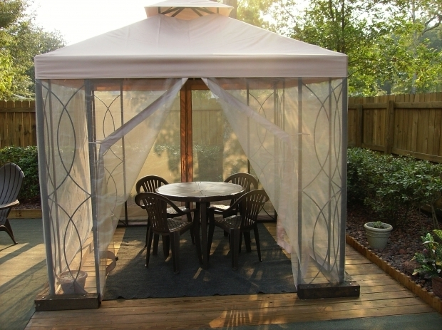 Outstanding 8x8 Gazebo With Netting S 582d And S 582dn Lowes Sku 31335 And 01315 Garden Winds