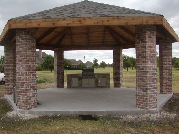 Outdoor gazebo plans with fireplace pergola gazebo ideas for Plans for gazebo with fireplace
