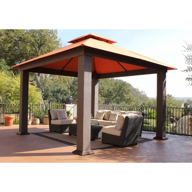 Picture of Aluminum Pergola Kits Lowes Garden Outdoor Fancy Hardtop Gazebo For Your Outdoor And Garden