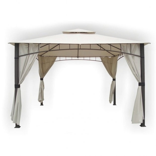 Picture of Dc America Gazebo Shop Dc America Bronze Steel Rectangle Screened Gazebo Exterior