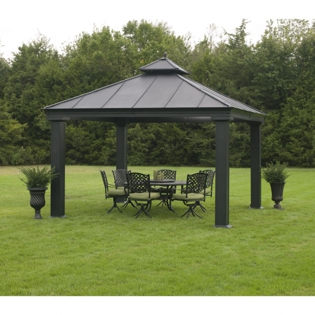 Picture of Gazebo Sam's Club Garden Outdoor Fancy Hardtop Gazebo For Your Outdoor And Garden