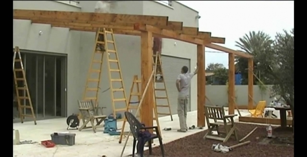 Picture of How To Build A Pergola Off The House Pergola Gazebo Decks Youtube