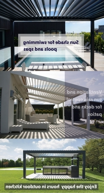 Aluminum Pergola Kits With Adjustable Louvers Pergola