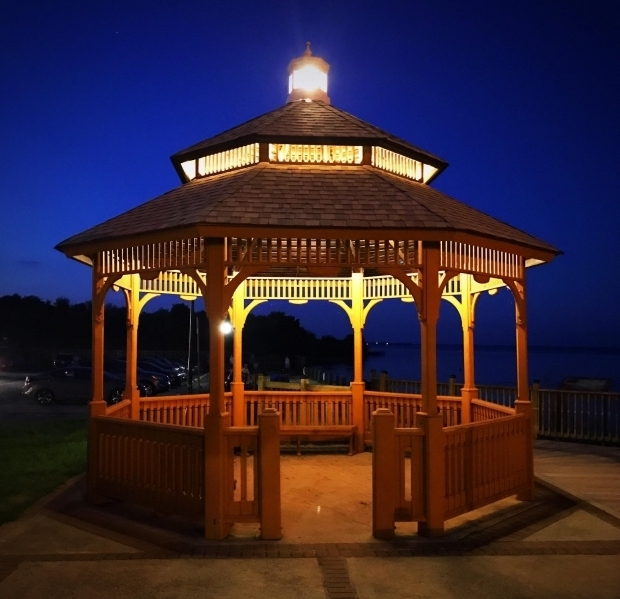 Remarkable Gazebo With Lights Havre De Grace Havre De Graces Lights Up Gazebo Entrance To