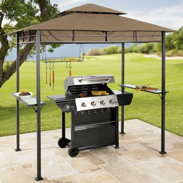 Remarkable Grill Gazebo With Lights Gazebo Ideas Mainstays Grill Gazebo With Adjustable Awning With