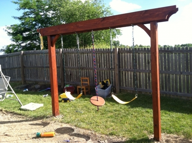 Remarkable Pergola Swing Plans Pergola Swing Turned Out Great Diy Projects Pinterest