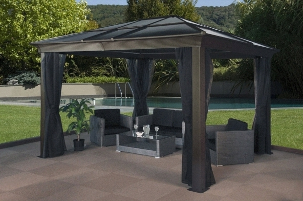 Remarkable Sunjoy Aluminum Steel Hardtop Gazebo Hardtop Gazebos Best 2017 Choices Sorted Size