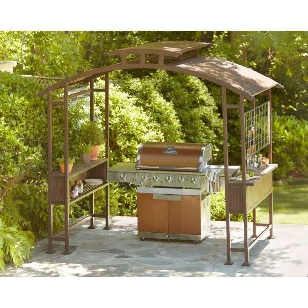 Stunning Grill Gazebo With Lights Hampton Bay 8 Ft X 5 Ft Walker Grill Gazebo L Gz411pst The