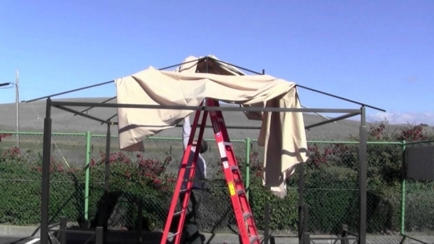 Stunning Home Depot Gazebo Canopy How To Install A Home Depot Harbor Gazebo Canopy Youtube