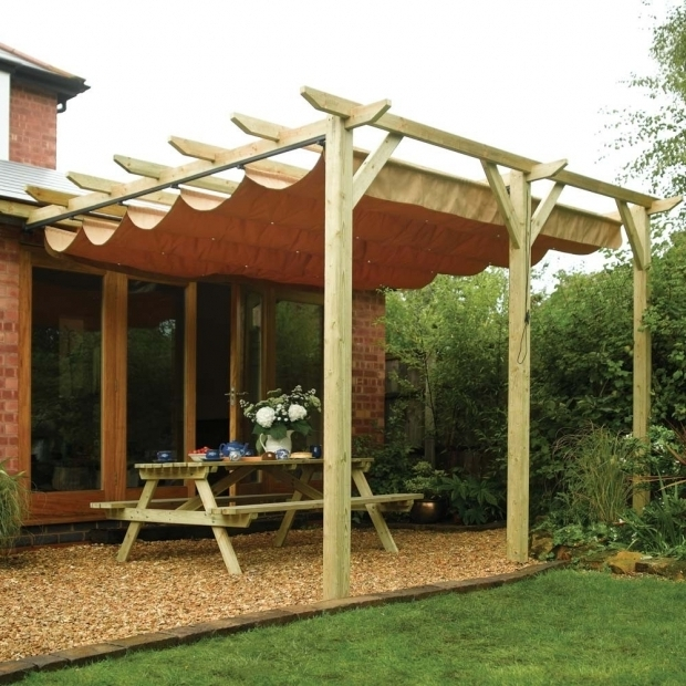 Stunning Wooden Pergola With Retractable Canopy Outdoor Pergolas Australian Wooden Gazebo Kits Pinterest