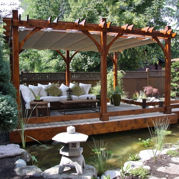 Stunning Wooden Pergola With Retractable Canopy Pergola Garden Pergolas The Mine