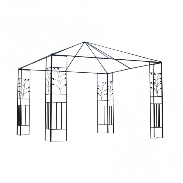 Stylish 10x10 Gazebo Frame Affordable Varietyoutdoor 10 X 10 Steel Gazebo Frame Leaf Design
