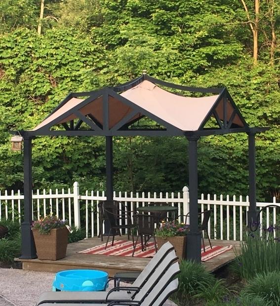 Stylish Garden Treasures Pergola With Canopy Lowes Garden Treasures 10 X 10 Pergola Replacement Canopy Gf