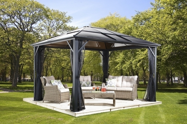Stylish Grand Resort Hardtop Gazebo Garden Outdoor Fancy Hardtop Gazebo For Your Outdoor And Garden