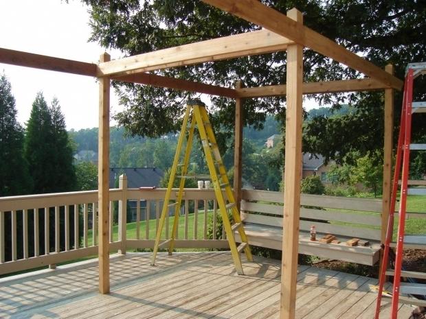 Stylish How To Build A Pergola On A Deck How To Build A Backyard Pergola Hgtv