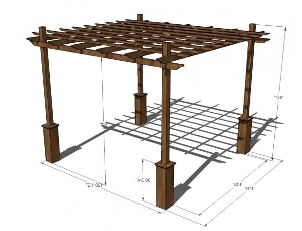 Stylish Standard Pergola Dimensions Pergola Dimensions House Designs