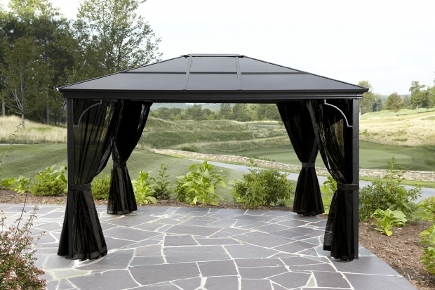 Wonderful Sunjoy Aluminum Steel Hardtop Gazebo Gazebo Ideas Hardtop Gazebo Aluminum Metal Canopy With Sunjoy