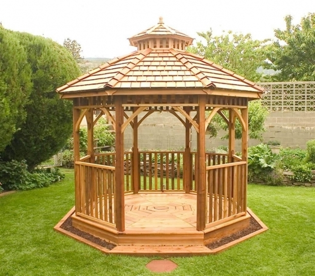Alluring Gazebo Wood Kit 14 Cedar Wood Gazebo Designs Octagon Rectangle Hexagon And